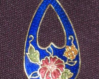 Beautiful Blue Cloisonne Pendant