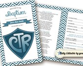 INSTANT DOWNLOAD - Printable Folding Baptism Program - LDS - Fully Editable - Mormon Baptism Program - Choose the Right - cTr Baptism