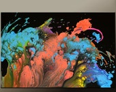 Abstract Canvas Art Painting Canvas 36x24 Original Modern Contemporary Paintings by Destiny Womack - dWo -  Imagination