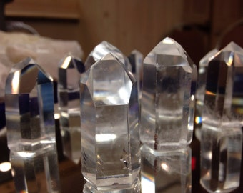 1 beautiful polished brazilian quartz crystal