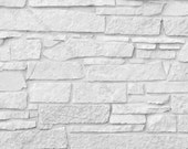 Digital Photo Download, White Cut Rock Wall, Large White Stone Surface Background, Light Background Style Stock Photo, Mock Up Display Prop