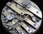 Gorgeous Vintage Antique  Pocket Watch Movement  Steampunk Altered Art S 36