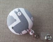 Cute Badge Reel | Retractable Badge Holderl,  Nurse Badge Reel, ID Badge Holder, Badge Clip, Cute Badge Reel - LLAMA