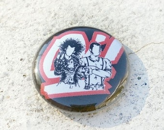 Oi! Punks and Skins 1 inch Button