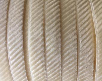 2 Yards Ivory Velvet Corduroy Ribbon Trim 8mm Wide