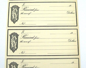 40 Vintage blank receipts for your art projects Fancy fonts