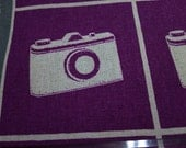 Half Yard Japanese Linen Blend Cotton Fabric Kokka Echino Etsuko Furuya Camera 2 colors to choose