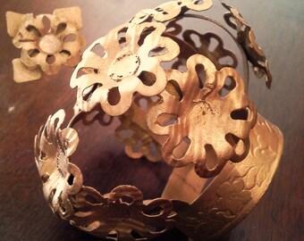 Large Tin Metal Santos Cage Doll Crown