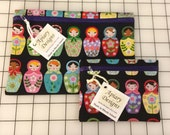 Reserved for Beth - Tiny and Super Matroyshka Pouches