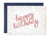 Birthday Confetti Illustrated Card // 1canoe2