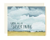 You Are My Silver Lining Illustrated Card//1canoe2