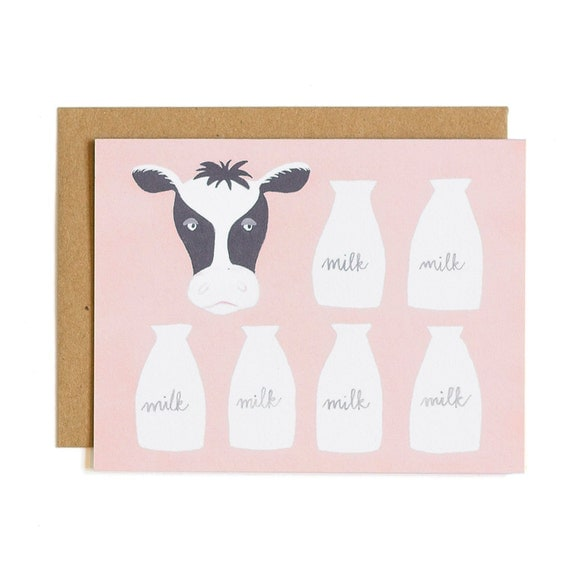 Farm to Table Cow Illustrated Card