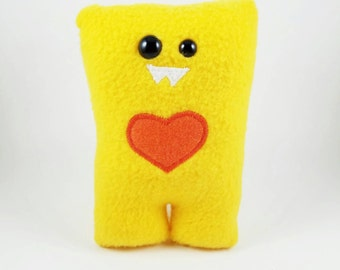 Yellow Nubbin - Custom Color Heart - Made To Order