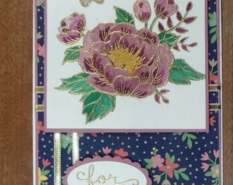 """Handmade Stampin Up """"For You""""  card"""