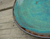 Rustic Turquoise and Brown Plate Platter