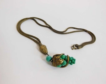30s necklace /Garden of Eden Vintage 1930's Snake Necklace