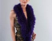 Promo Sale Purple Marabou Wrap - Collar - Shrug