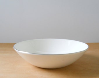 Vintage Rhythm Capri Bowl • Mid Century Serving Bowl • Pink Black Silver