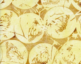 NEW - One yard - Coconut Butterflies Globes Batik - IS14FA1