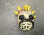 Ceramic Clown Head, Slipknot, wall hanging
