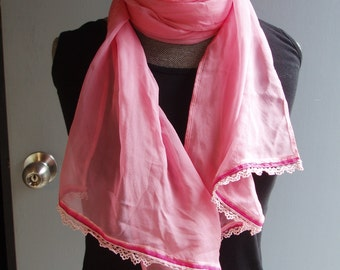 Mid Pink Silk Scarf