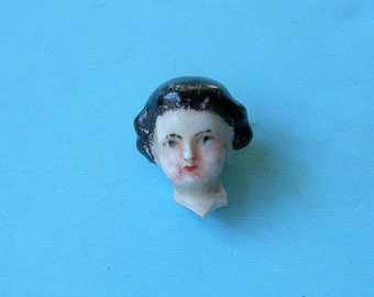 Tiny Antique German Doll Head Antique Frozen Charlotte German Doll Head Doll Parts Altered Art Jewelry Making Doll Head