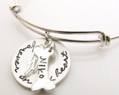 Angel Dog - Pet Memorial Bracelet Gift - Forever in my Heart Necklace - Dog Remembrance - Pet Loss