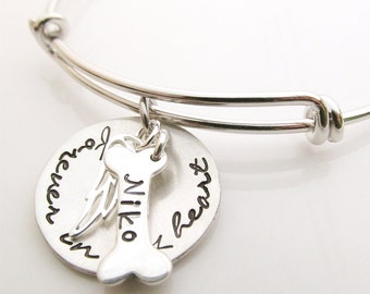 Angel Dog - Pet Memorial Bracelet Gift - Forever in my Heart Necklace - Dog Remembrance - Pet Loss - Loss of Dog
