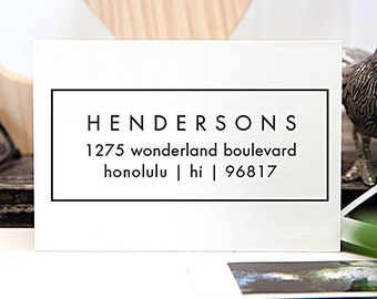 Self Inking Address Stamp, Address Stamp, Custom Address Stamp, Return Address Stamp, Personalized Gift, Rubber Stamp - 1003