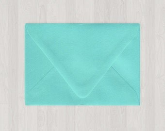 10 A7 Envelopes - Euro Flap - Teal & Blue-Green - DIY Invitations - Envelopes for Weddings and Other Events