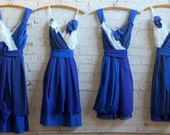 Thicker Straps -- Final Payment for Alison McLean's Custom Bridesmaids Dresses + Flower Girl Fabric