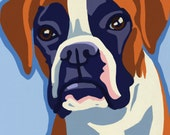 Pop Art Dog 5 Greeting Cards Boxer Colorful