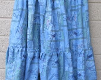Tie dye  burnout dancing skirt golf print