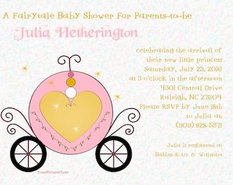 Fairytale Carriage for a Princess Invitation