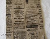 50 Paper Bags, Newspaper Bags, Newsprint Paper Bags, Gift Bags, Favor Bags, Vintage Style Paper Bags, Rustic Wedding 6x9