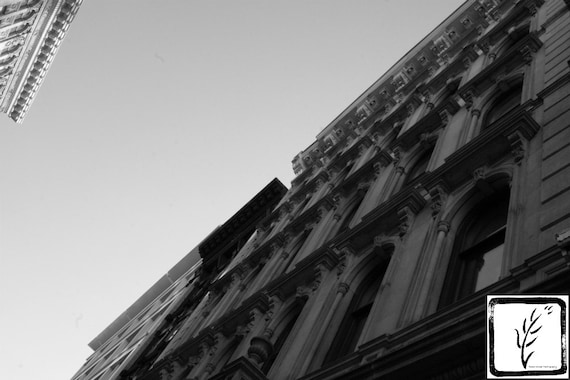 B&W Photograph, fine art, photo print, wall art, home decor, street, city, Manhattan, New York, historic, design, haiku