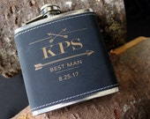 Flask | Customizable Black ARROW design, multiple quantities for groomsman gift