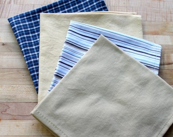 blue yellow cotton handkerchief,cotton hankies,cotton napkins,blue hankies,yellow hankies,blue napkins,yellow napkins,eco-friendly,hankies