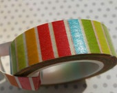 Washi Tape - Summer Fun Rainbow - Doodlebug - Paper Tape Decorative Tape - One Package - 12 Yards