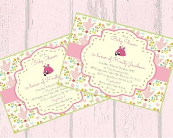 Printable Custom  Invitation, Baby Shower Invitation, Baby girl invitation, Shower invitation