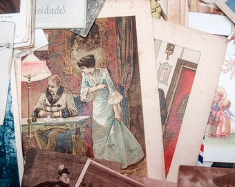 FOUND IN SPAIN -- Huge treasure trove of paper ephemera - photos, postcards, mass cards