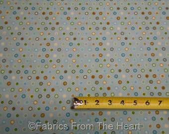 Pet Rescue Dog Bubbles Circles on Light Blue BY YARDS Henry Glass Cotton Fabric