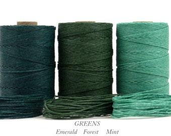 Crawford Waxed Irish Linen Thread 4 ply (1mm) x 15 yards. Bookbinding, macrame, leatherwork, crafts, gifts. Affordable UK, International