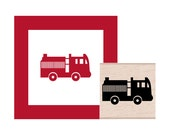 Fire Truck Rubber Stamp