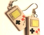 Retro style Gameboy Dangle earrings glow in the dark screen MADE TO ORDER
