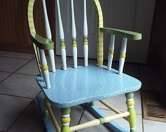 Hand Painted Child Rocking Chair  Olivia Grace Nolan Collection