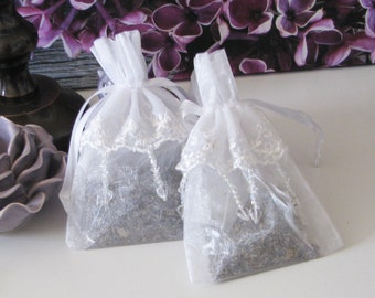 Embroidered French Lavender Sachets make lovely gifts