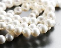 10pcs Swarovski 5810 Crystal Pearl-WHITE 8mm (SWP59001)