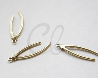 2pcs Oxidized Gold Tone Base Metal Charm - Branches 43x13mm (3109C-M-245)