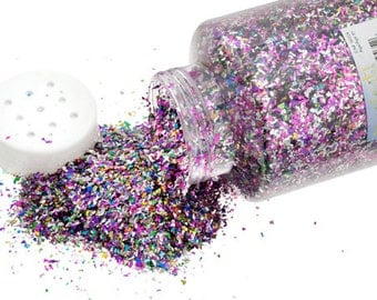 One Package With Sifter Top (450 Grams) Glitter Flakes - Multi (504)